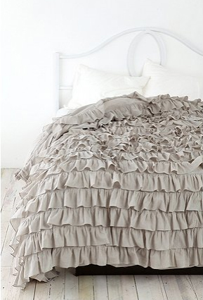 Textured bedding for Frilly bedspreads