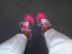 pink nike frees