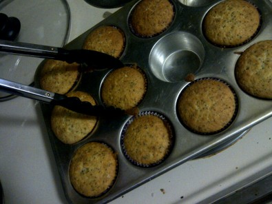using tongs for muffins