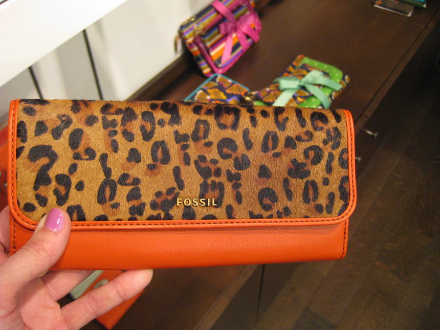 98677bb67 Leopard print and orange. Huzzah. How beautiful! Wait omg, I can't find it  online. Did they only go with the black for Fall?! It's the Memoir Flap  Checkbook ...