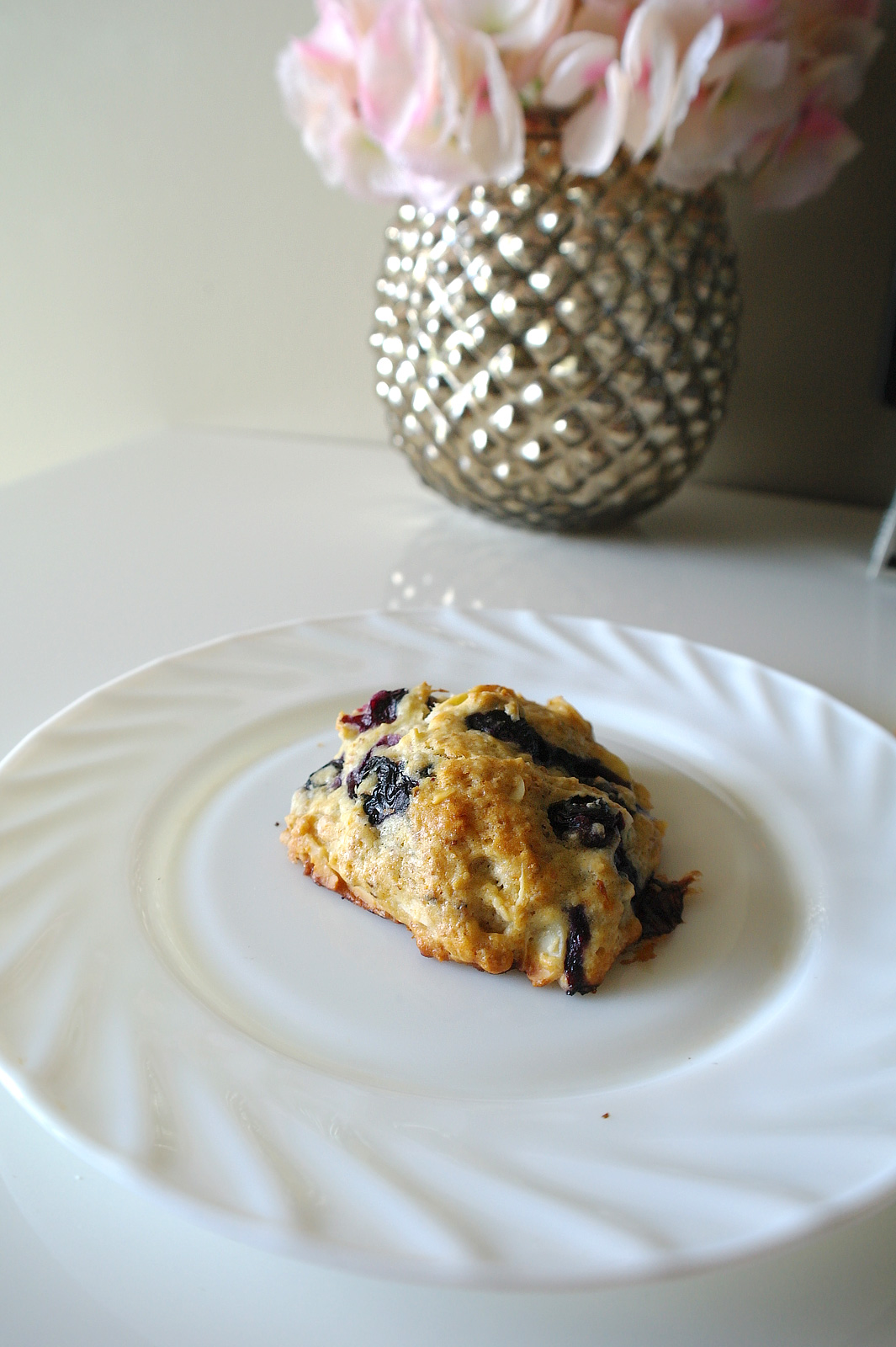 Just made these blueberry almond scones. A recipe will be up later on ...