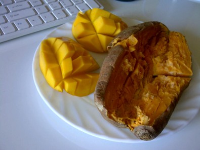 sweet potato and mango