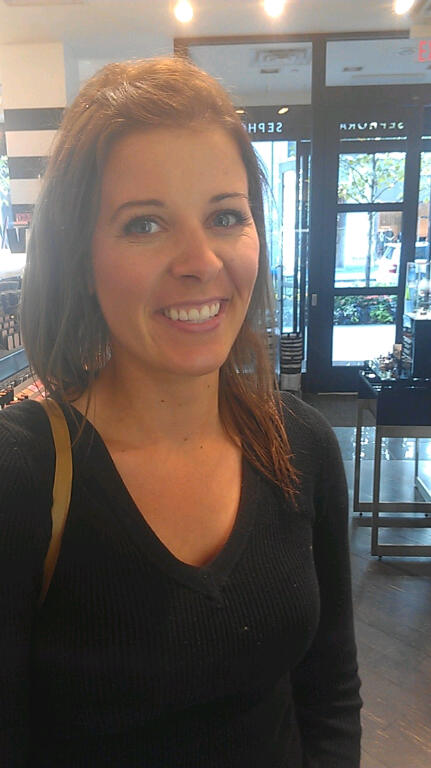 smiling in sephora