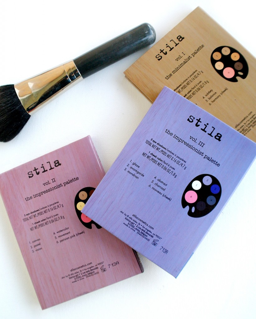 back of stila book of palettes