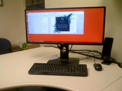 wide screen monitor with adobe cc