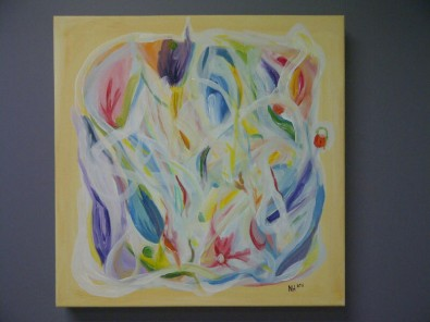 colourful yellow painting