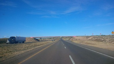 pink bridge in New Mexico