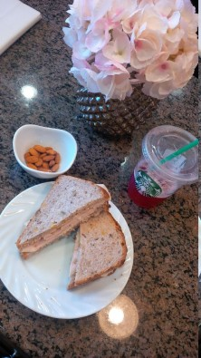 sandwich and starbucks