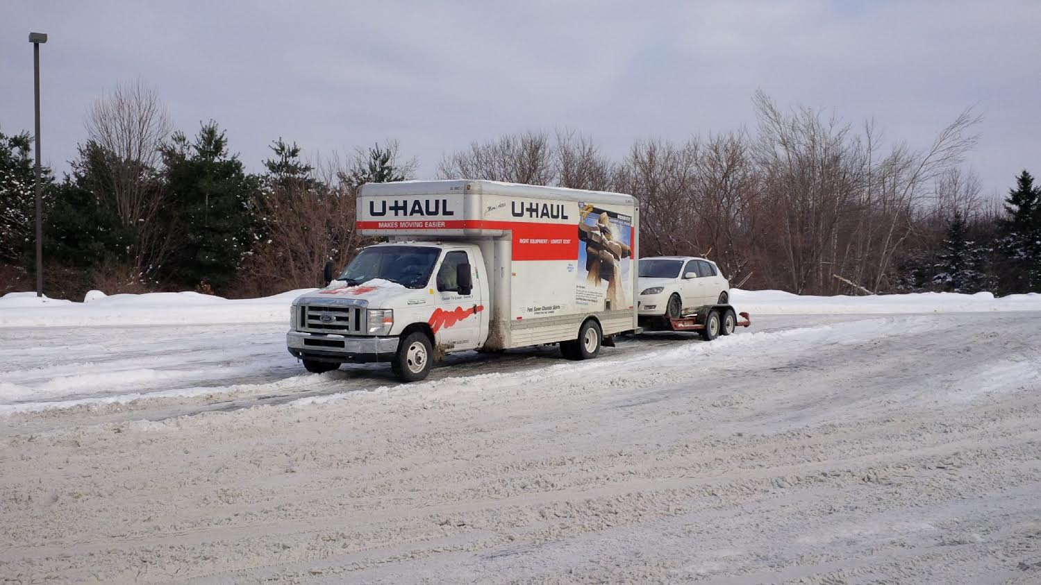 uhaul and car