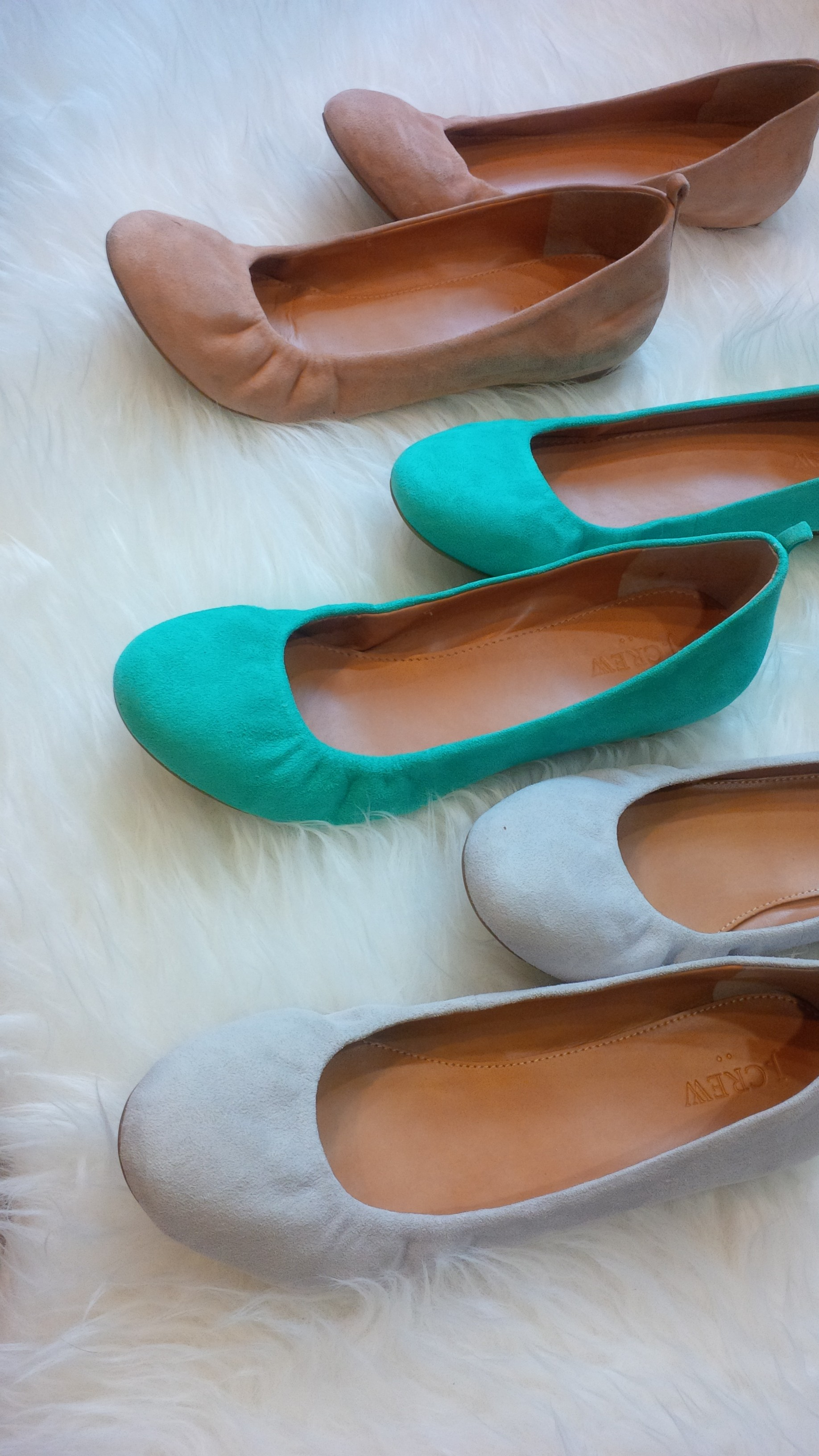 J Crew Anya Suede Ballet Flats