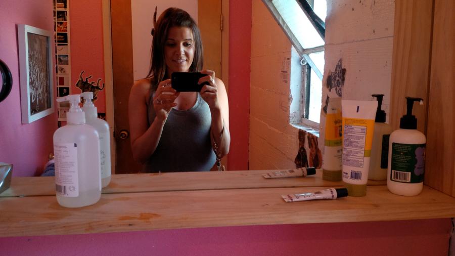 Social Print Studio bathroom selfie