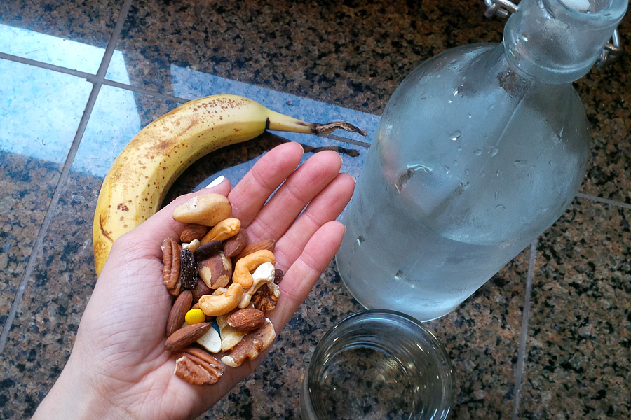 Banana-Nuts-Water