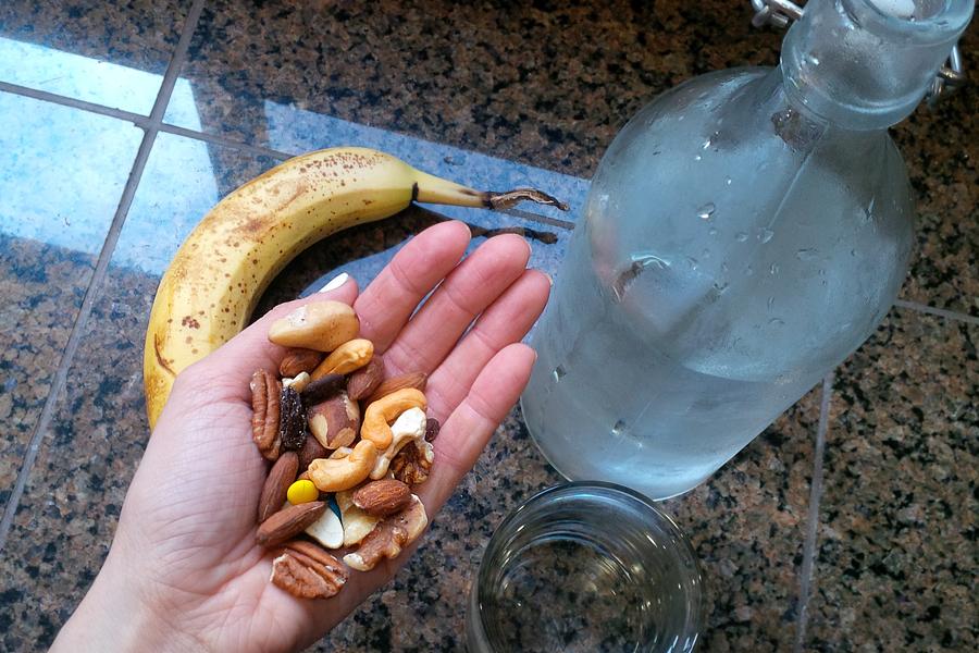 Banana-Nuts-Water