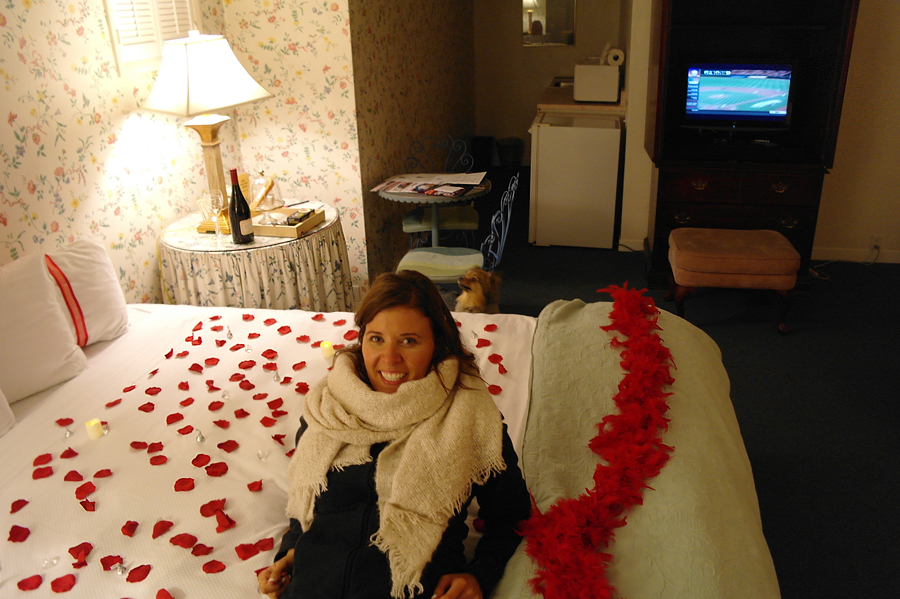 Laying-on-rose-petals