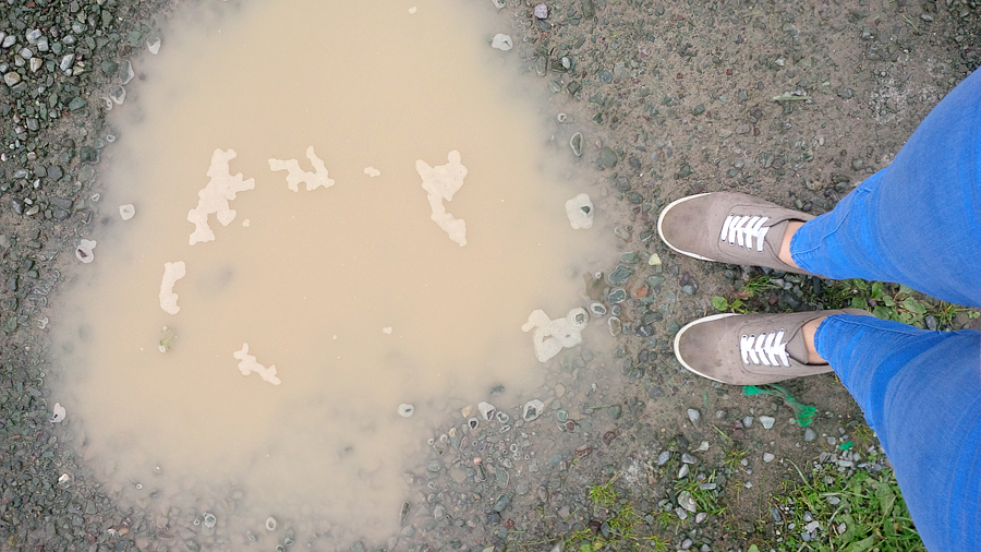 Sneakers-in-mucky-water