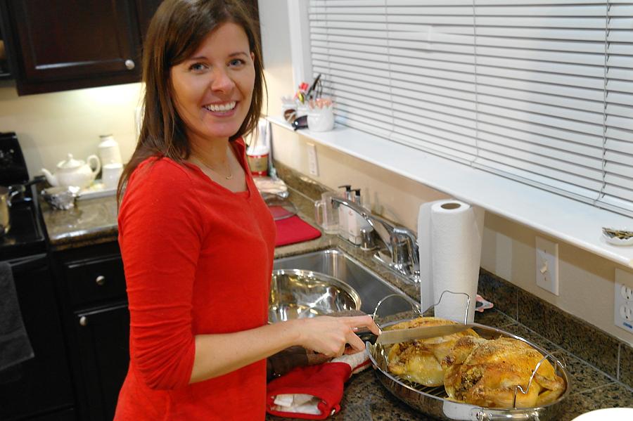 Cutting-roast-chicken