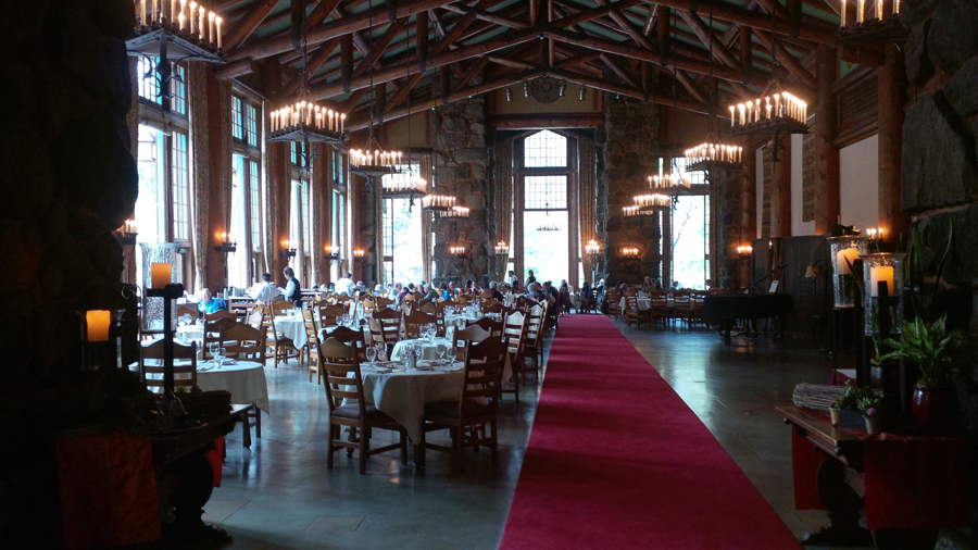 climbing trip to yosemite dining room at the ahwahnee hotel photo