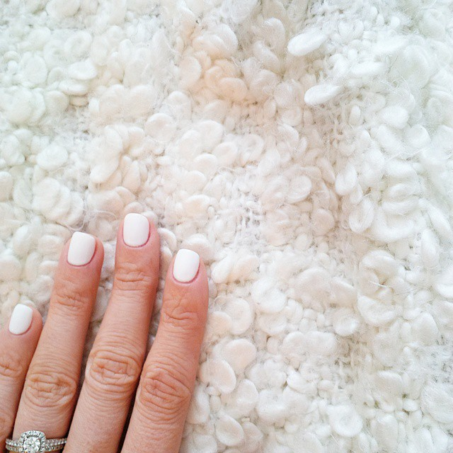White Shellac Nails