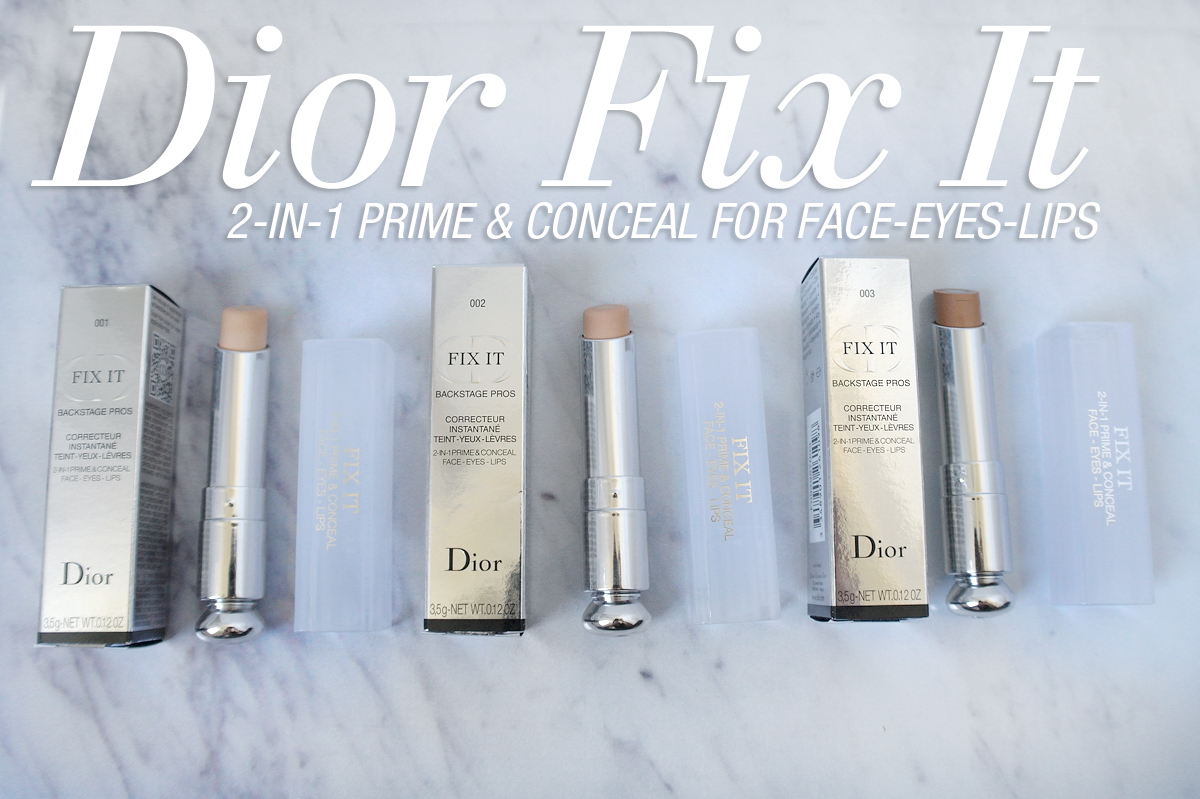 Dior Fix It 2-in-1 Prime & Conceal for Face Eyes & Lips