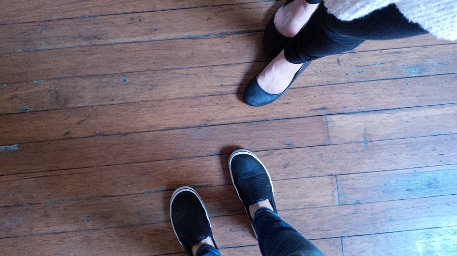 Nancy-and-Megan-shoes
