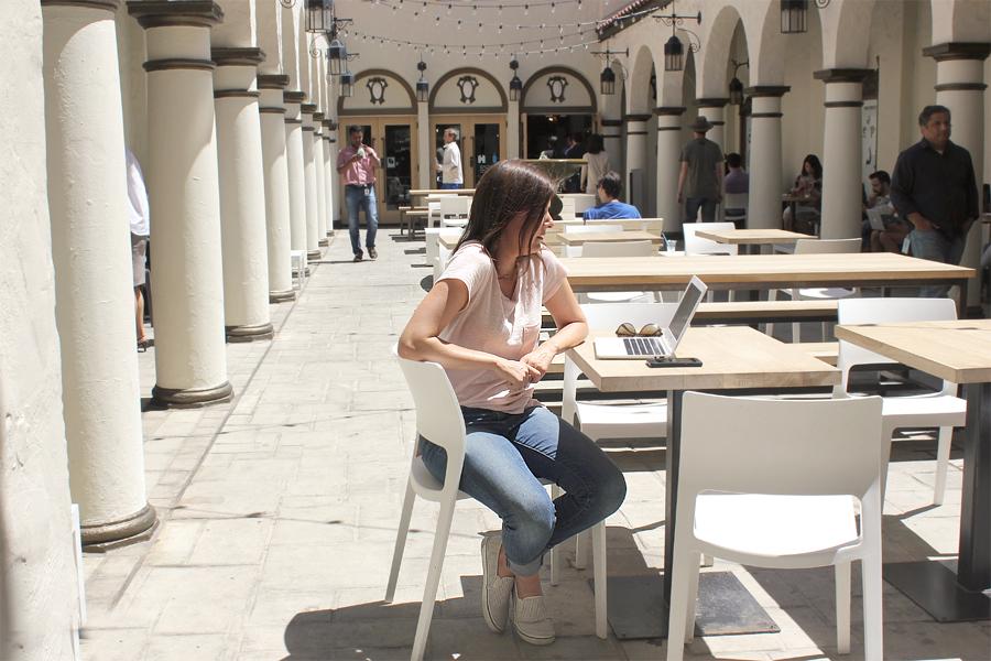 Pretending-to-work-on-lapto