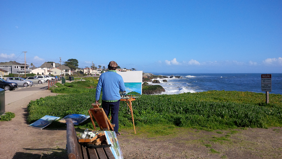 Painter-on-beach