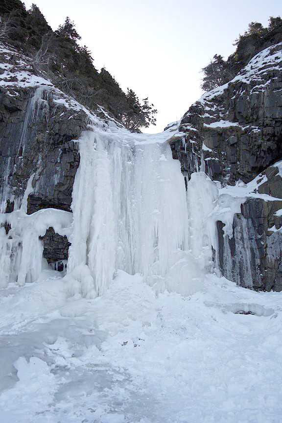 Ice-waterfall