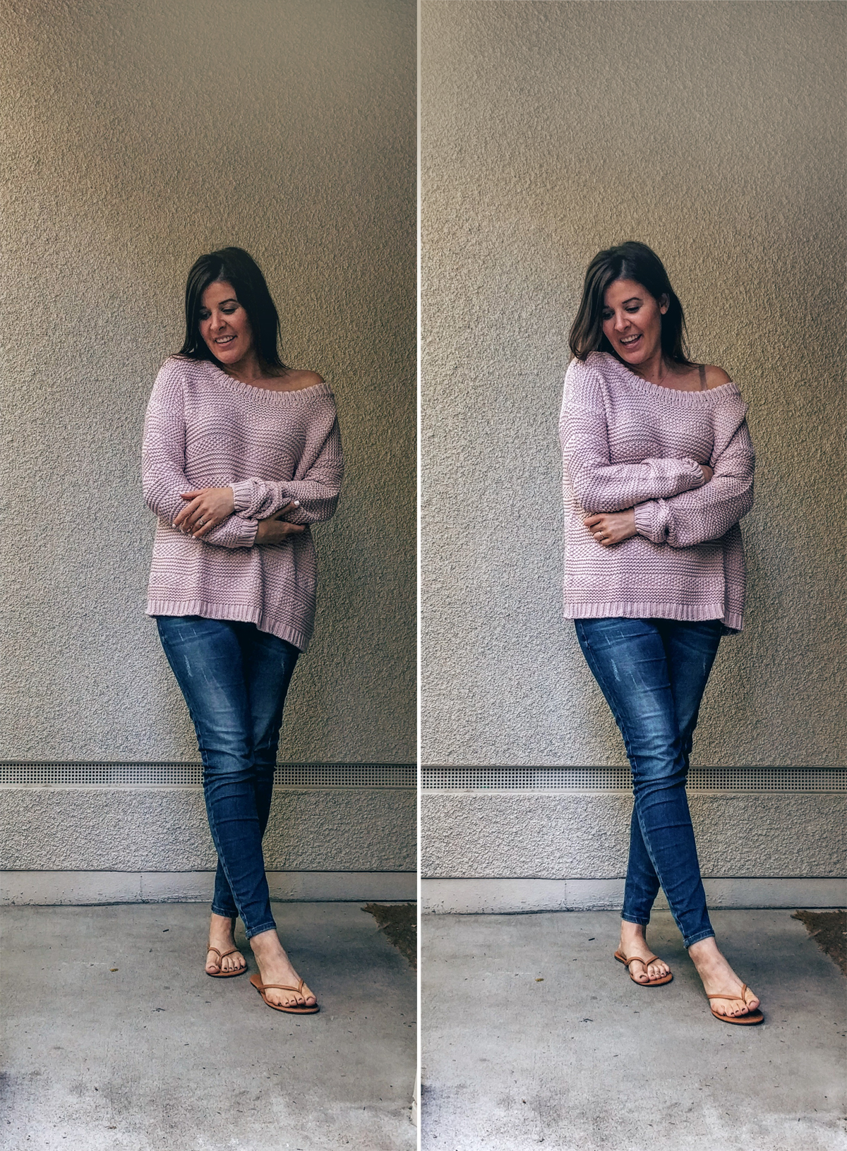 Pink-Sweater-OOTD