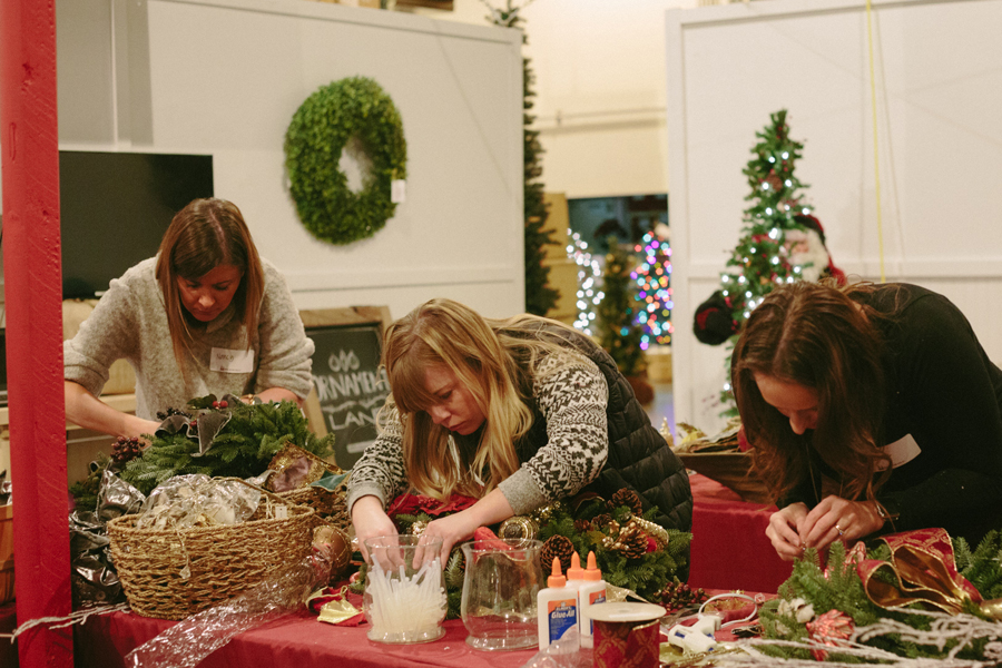 Christmas-wreath-making