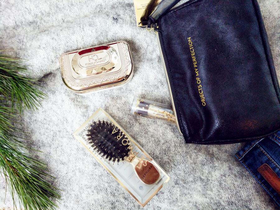 Sephora gold flatlay